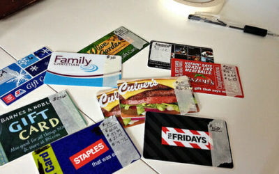 An easy tip on what to do with Gift Cards